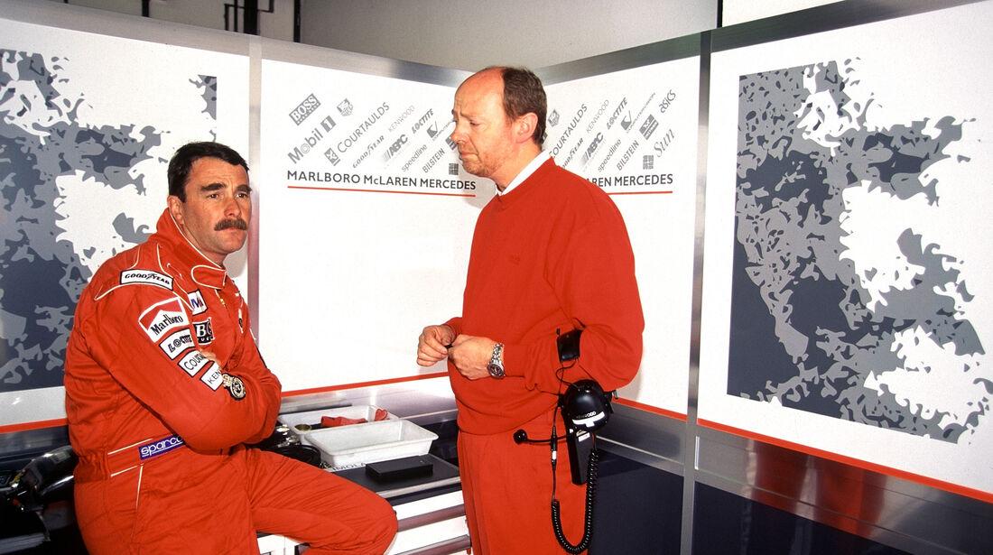 Nigel Mansell - McLaren - Imola 1995