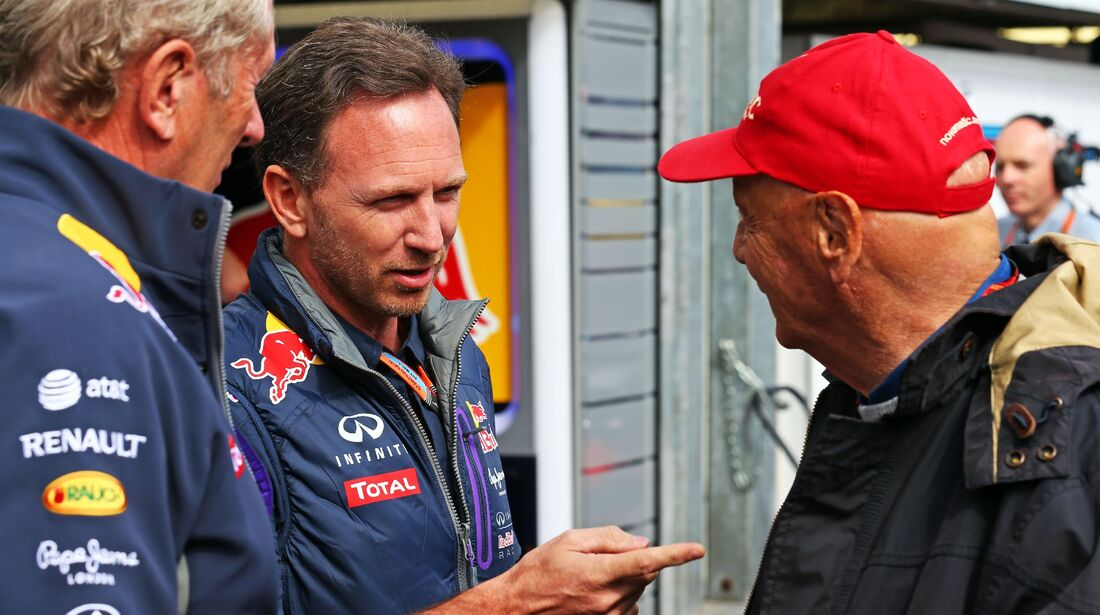 Niki Lauda - Christian Horner  - Formel 1 - GP Monaco - Donnerstag - 21. Mai 2015