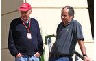 Niki Lauda & Gerhard Berger - Formel 1 - GP Bahrain - 2. April 2016