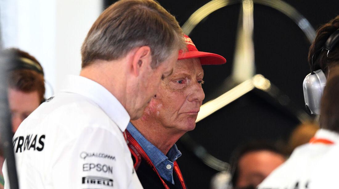 Niki Lauda - Mercedes - GP Spanien 2016 - Qualifying - Samstag - 14.5.2016