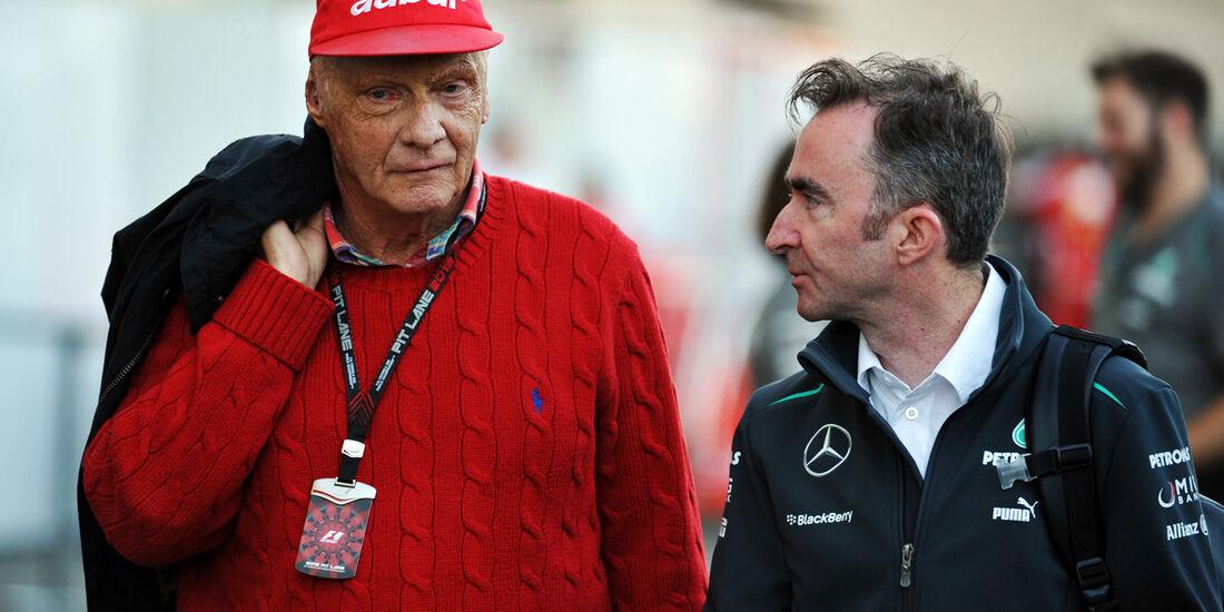 Niki Lauda & Paddy Lowe - Mercedes - Formel 1 - GP USA - 15. November 2013