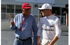 Niki Lauda - Valtteri Bottas - Mercedes - GP Aserbaidschan 2017 - Qualifying - Baku - Samstag - 24.6.2017
