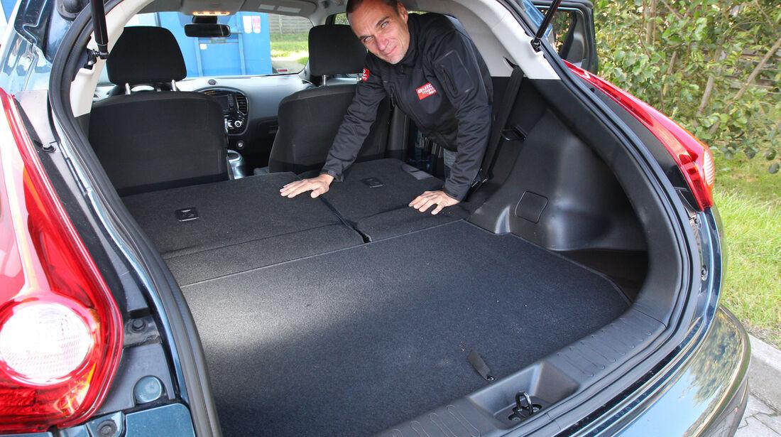 Nissan Juke, Ladefläche, Kofferraum