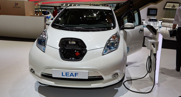 Nissan Leaf Elektroauto, Genfer Autosalon, Messe, 2014