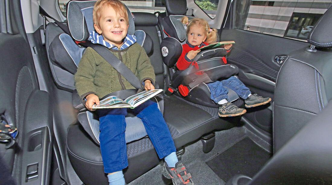 Nissan Note 1.5 dCi, Fondsitz, Kindersitz