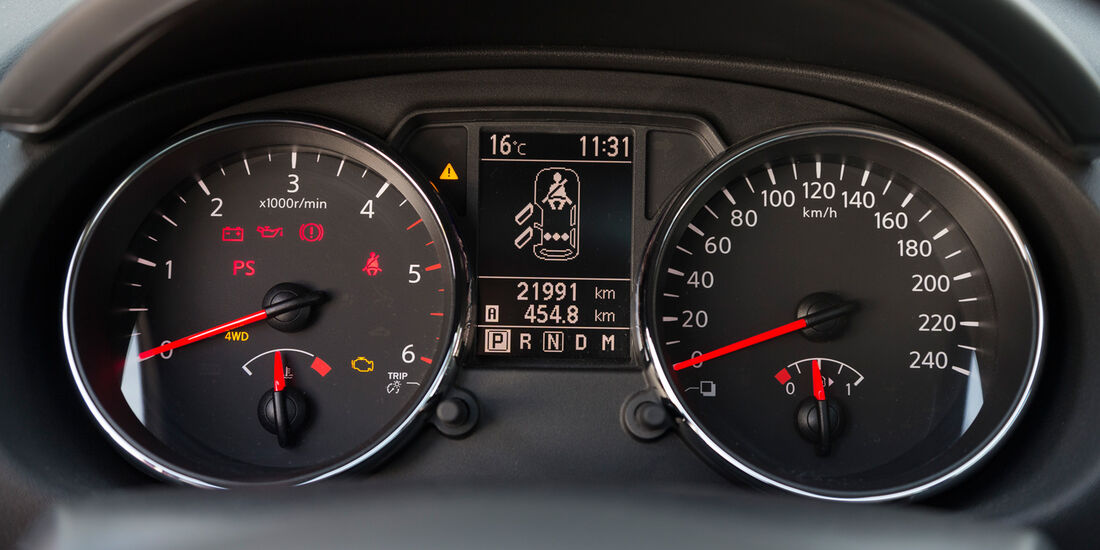Nissan Qashqai +2 2.0 dCi, Rundinstrumente
