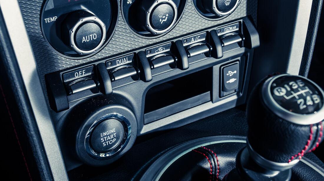 Novidem-Toyota GT86, Mittelkonsole, Bedienelemente