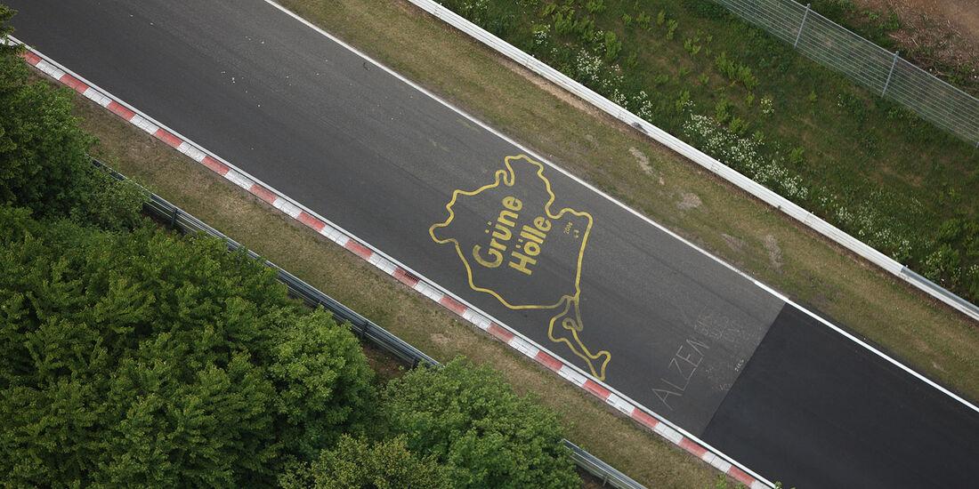 Nürburgring Nordschleife Grüne Hölle Logo Schriftzug