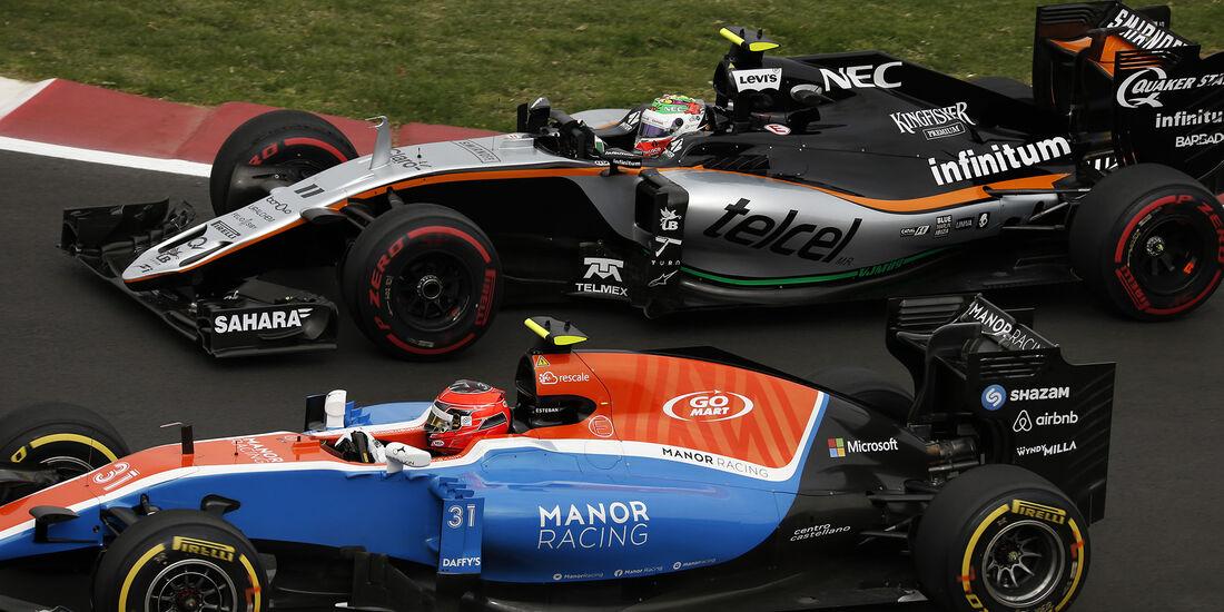 Ocon vs Perez - Formel 1 - GP Mexiko - 28. Oktober 2016