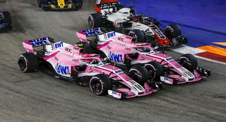 Ocon vs. Perez - GP Singapur 2018