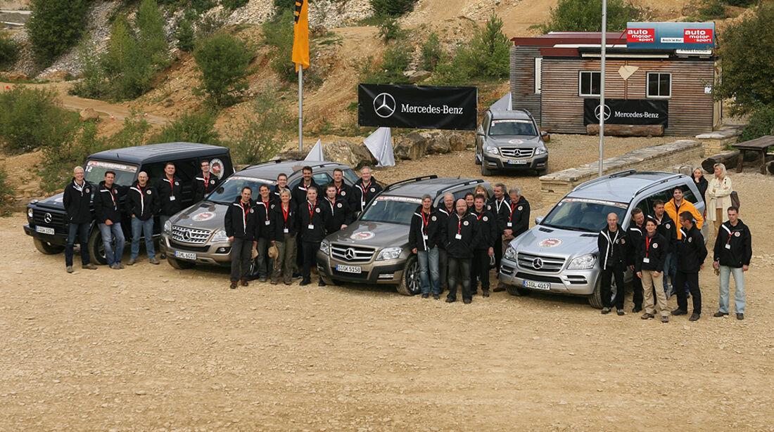 Offroad-Challenge 2010, Teilnehmer, Mercedes GL, Mercedes GLK, Mercedes ML, Mercedes G