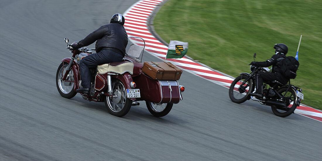 Oldtimer Motorräder auf dem Sachsenring
