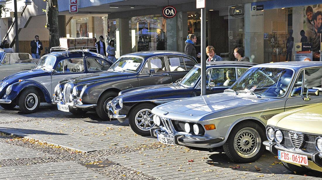 Oldtimer in Pforzheim: Alfa Romeo, BMW, MG, Jaguar, VW