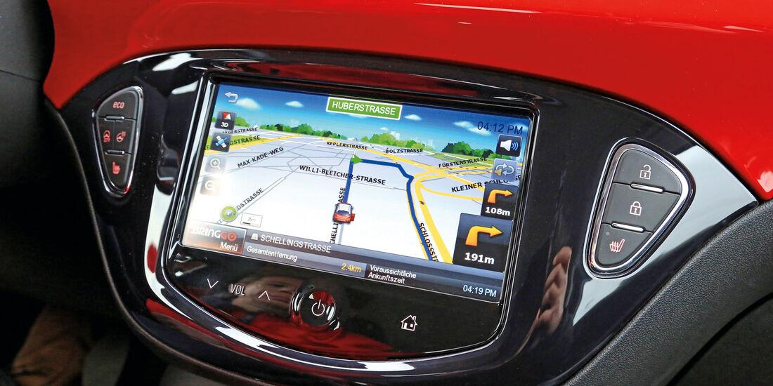 Opel Adam, Navi, Display