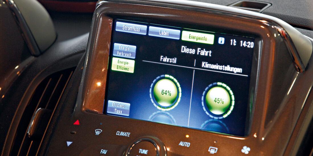 Opel Ampera, Bildschirm, Effizienz-Bälle