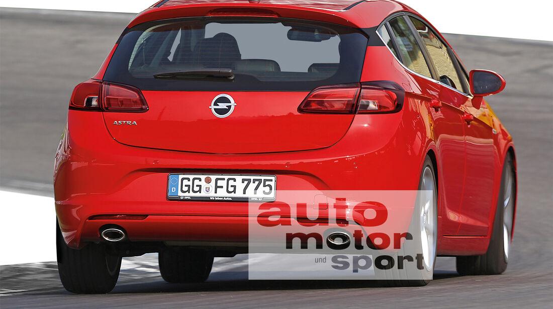 Opel Astra, Heckansicht