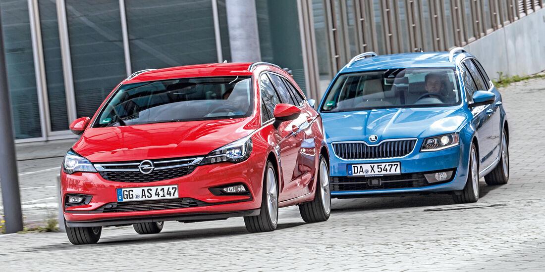 Wspaniały Opel Astra Sports Tourer und Skoda Octavia Combi im Vergleich QT27