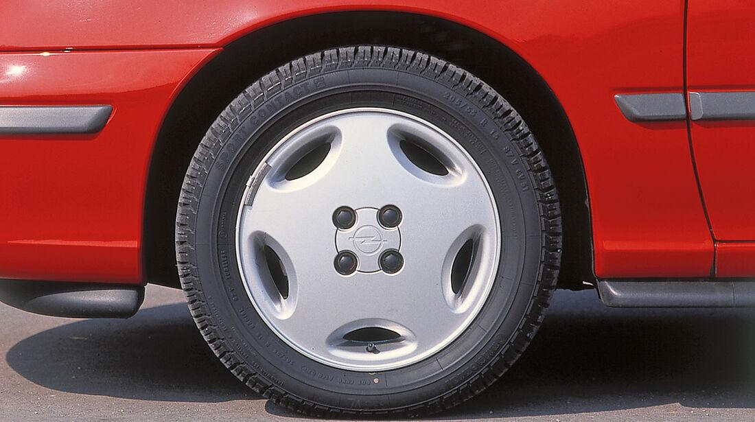 Opel Calibra, Rad, Felge