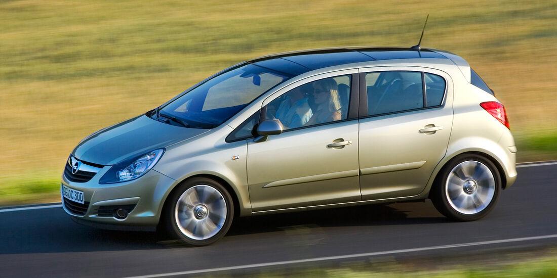 Opel Corsa 1.0, Seitenansicht