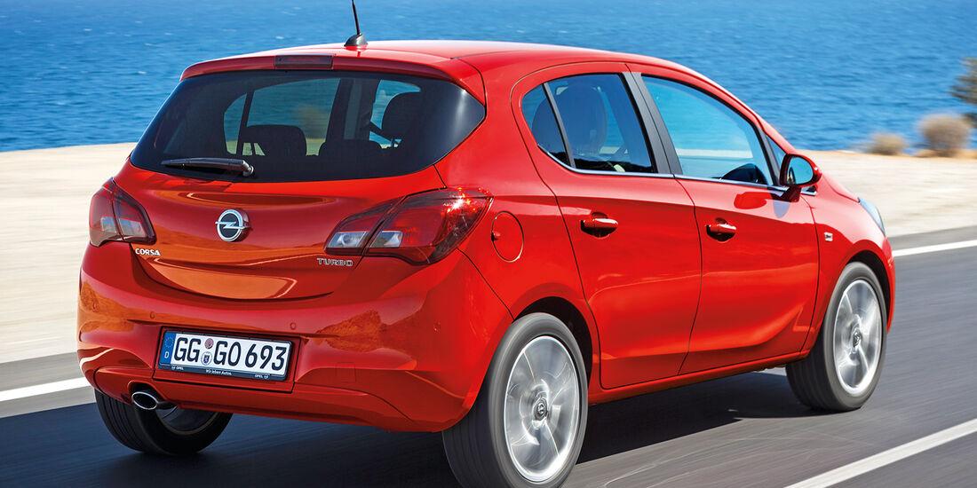 Opel Corsa, Heckansicht