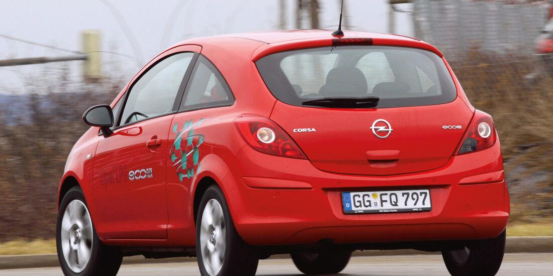 Opel Corsa LPG, Heckansicht