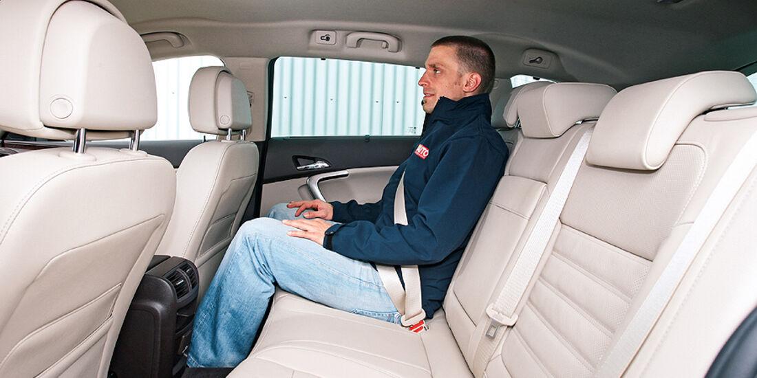 Opel Insignia, Innenraum, Sitze hinten