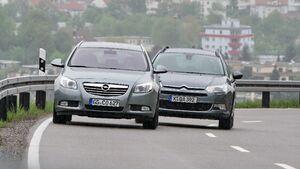 Opel Insignia Sports Tourer und Citroen C5 Tourer Front