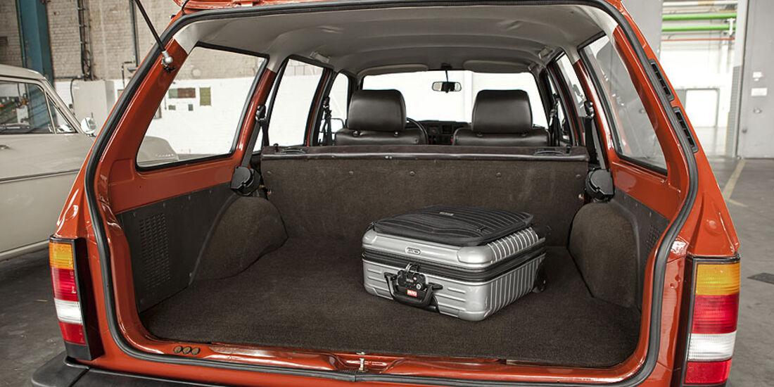 Opel Kadett  D Caravan, Kofferraum