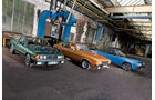 Opel Manta 1900 S, Ford Capri 3.0 Ghia, VW Scirocco GLI