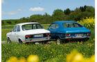 Opel Rallye Kadett 1100 SR, Ford Escort I, Heckansicht