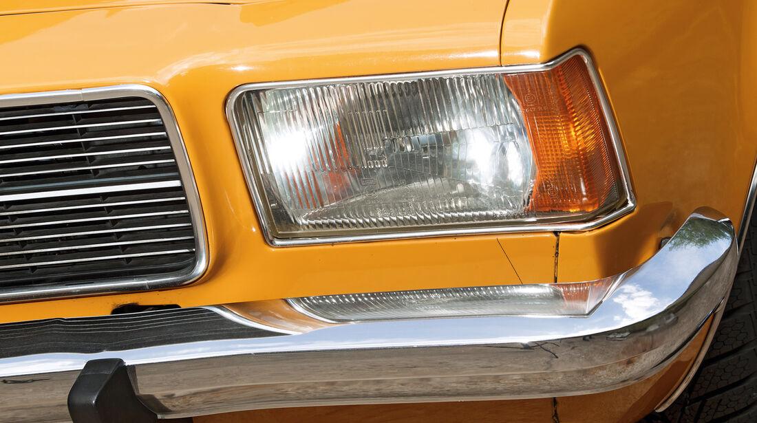 Opel Rekord, Frontscheinwerfer