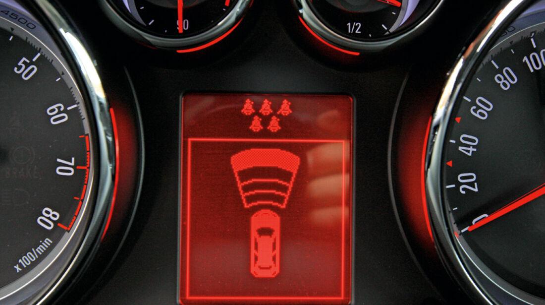 Opel Zafira Tourer 1.4 Turbo, Display Abstandswarner
