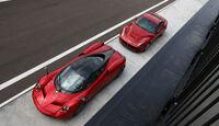 Pagani Huayra, Ferrari F12 Berlinetta, Draufsicht, von oben