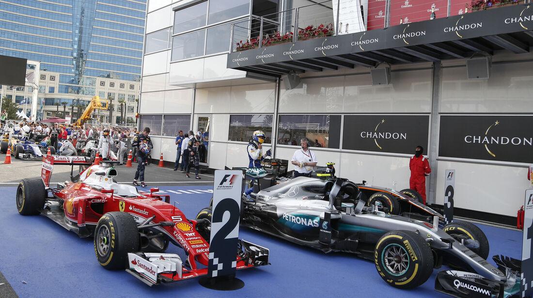 Parc Fermé - GP Aserbaidschan - Formel 1 - 2016