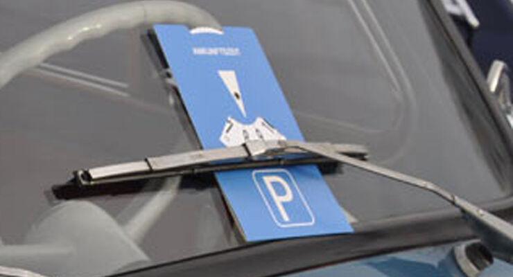 Parkscheibe, parkplatz