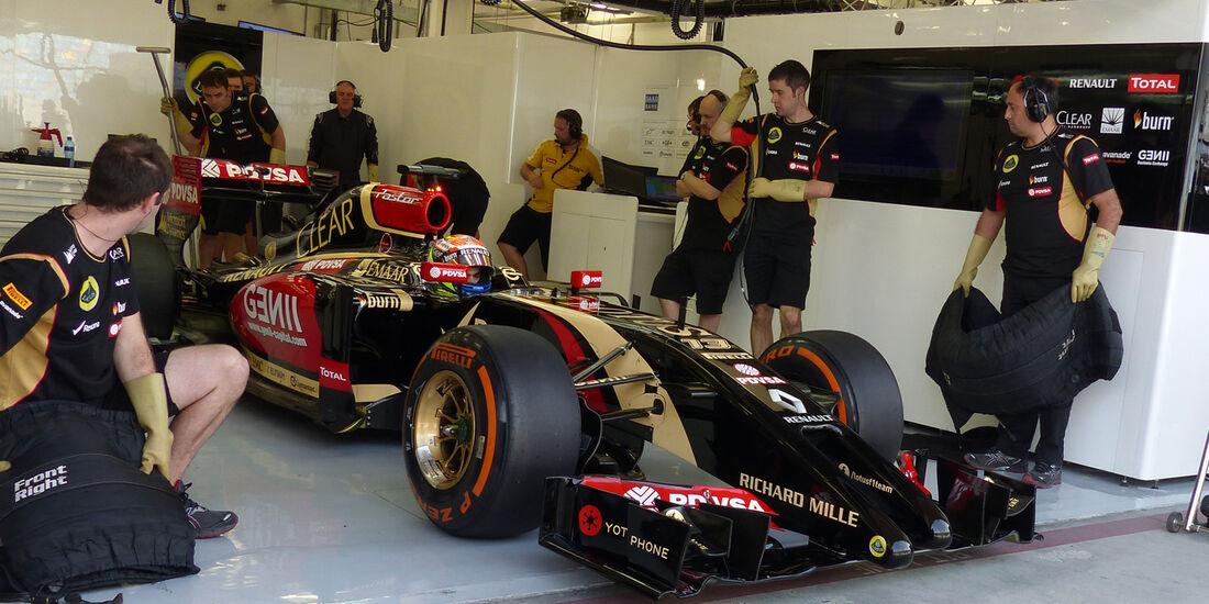 Pastor Maldonado - Lotus - Formel 1 - Test - Bahrain - 27. Februar 2014