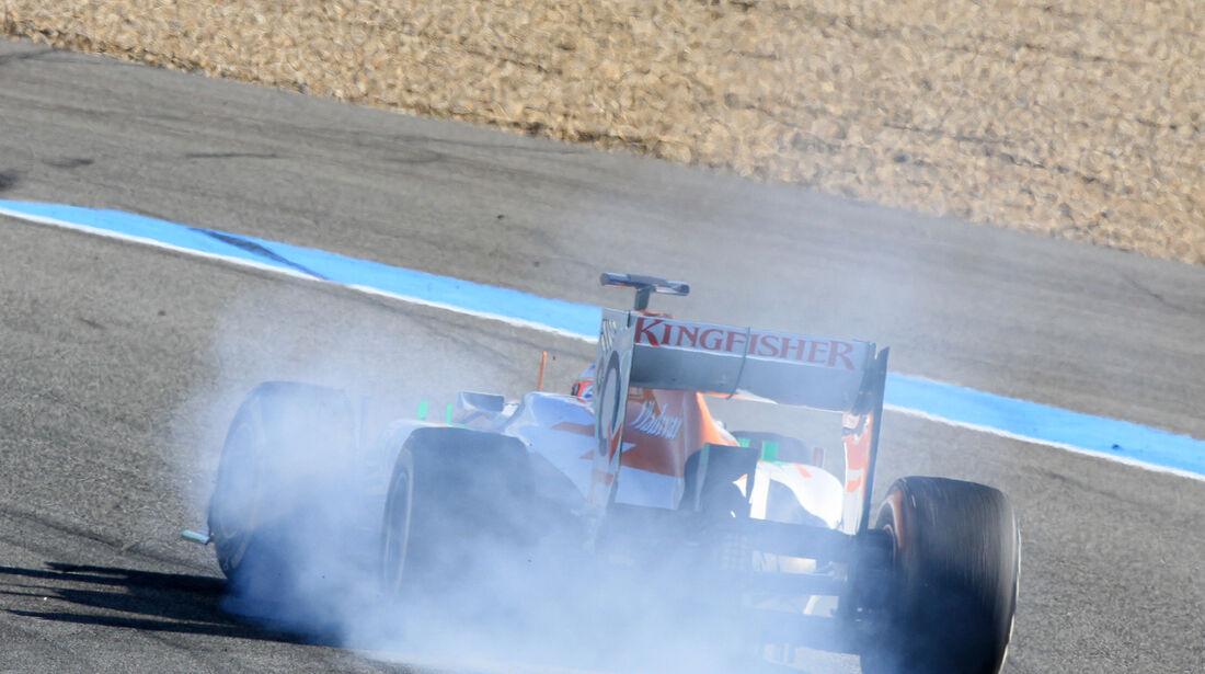 Paul di Resta Force India F1 Test Jerez 2013 Highlights