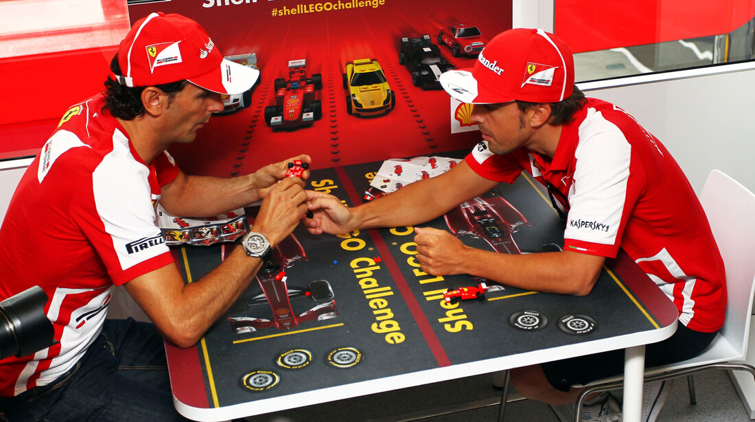 Pedro de la Rosa & Fernando Alonso - Ferrari - Formel 1 - GP Ungarn - 25. Juli 2012