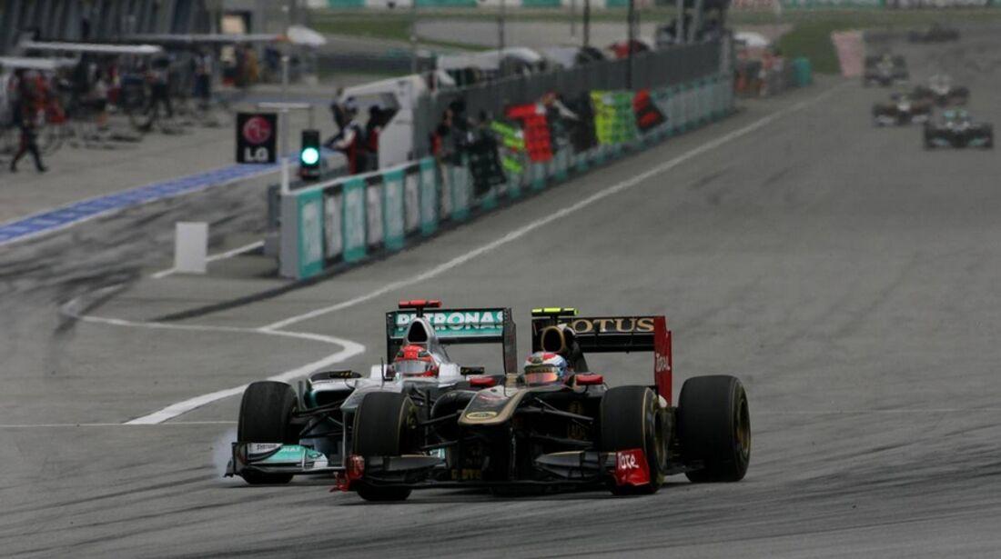 Petrov Schumacher GP Malaysia 2011 Formel 1