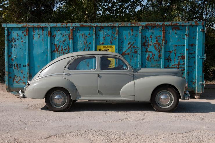 Peugeot 203, Seitenansicht
