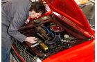 Peugeot 204 Cabriolet, Motor, Kühler