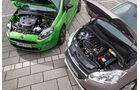 Peugeot 208 82 Vti, Fiat Punto 0,9 Twinair, Motor