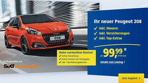 Peugeot 208 Leasingangebot