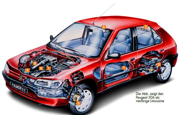 Peugeot 306 Cabrio YT_2018_02 Schwachpunkte Skizze