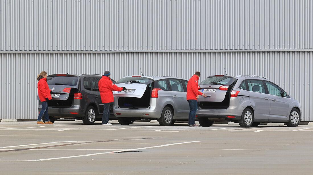 Peugeot 5008, Ford Grand C-Max, VW Touran, Kompaktvans