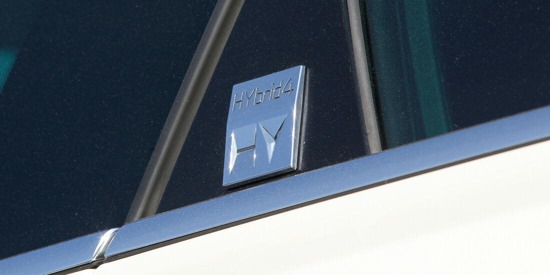 Peugeot 508 RXH, Emblem, Typenbezeichnung, Hybrid