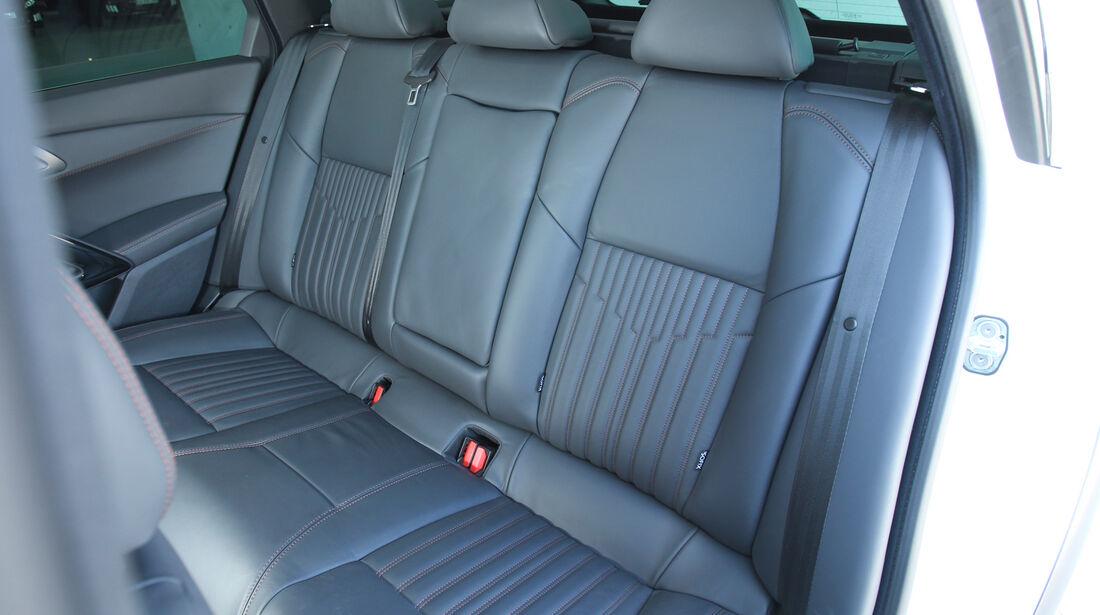 Peugeot 508 RXH, Rücksitz, Rückbank