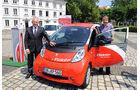 Peugeot Ion, Elektroauto, Ministerpräsident Peter Müller, Dr. Simone Peter, Bahnchef Dr. Rüdiger Grube, Saarland, Deutsche Bahn, Carsharing