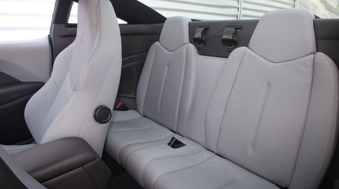 Peugeot RCZ, Rücksitz