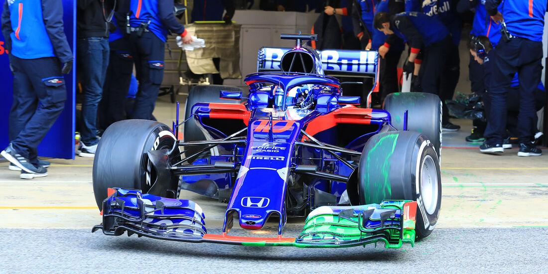 Pierre Gasly - Toro Rosso - F1-Test - Barcelona - Tag 7 - 8. März 2018